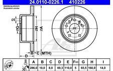 ATE Juego de 2 discos freno Trasero 286mm para OPEL VECTRA SAAB 9-3
