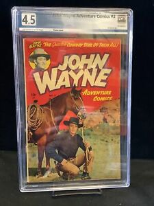 John Wayne Adventure Comics #2 Graded 4.5