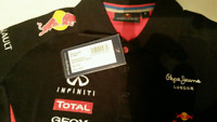 Red Bull Polo Shirt Ladies XS 2015  Racing Formula One F1 NEW Sponsors FREE P&P