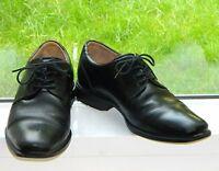 ECCO Men's Leather Derby Dress Shoes Size 12 Black Lace Up Plain Toe