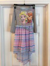 Disney Frozen Let It Go Elsa & Anna Dress w/Belt Sz. Medium