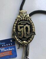Disney Haunted Mansion Disneyland 50th Anniversary Cast Member Bolo Lanyard