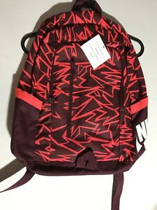 Nike All Access Soleday Backpack - Maroon/ Infrared - One Size BA6342 681 NWT