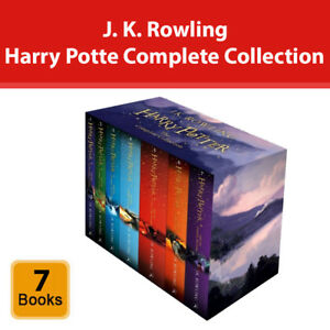J K Rowling Harry Potter The Complete Collection 7 Books Box Set Pack NEW