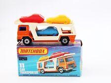 Matchbox  Superfast Nr. 11 Car Transporter lila scheibe OV Top