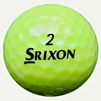 24 Srixon Trispeed Tour Gelb Golfbälle im Netzbeutel AAA/AAAA Lakeballs Bälle