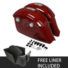 Red Saddlebag Electronic Latch +Carpet Liner For Indian Springfield 2016-2018 17