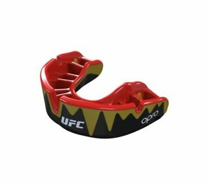 Opro Platino Fangz UFC Adultos Protector Bucal Negro Mma Boxeo SPORTS