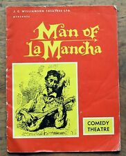 OLD PROGRAMME Comedy Theatre  Melbourne  Man of La Mancha nd. c.1964
