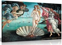 The Birth Of Venus Painting By Sandro Botticelli Canvas Wall Art Picture Print