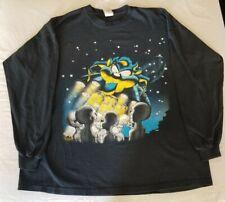 Vintage Taz Tazmanian Devil Ufo Alien Looney Tunes Black T-Shirt Size Xl X Large