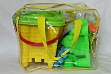 Beach Sand Toys Zippered Bag Castle Bucket 15 Pieces Brand New Sandbox Ocean