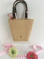 Elaine Turner Straw Tote Purse Bag Mini