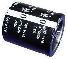 5x 8200uF 63V Snap In Mount Electrolytic Capacitor 8200mfd 63VDC 8,200 uF