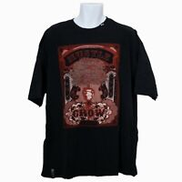 LRG Lifted Research Group Mens T-Shirt Black Size 2XL Short Sleeve