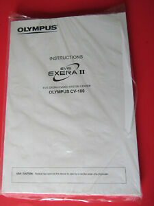 Olympus EVIS Exera II CLV-180 Video System Center Instruction Operator's MANUAL