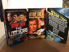 STAR TREK TOS BOOK NOVEL LOT HTF RARE OOP THE LOST YEARS STRANGERS FROM THE SKY