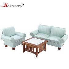 1/12 scale dollhouse miniature Tasteful Living room furniture set Sofa Teable