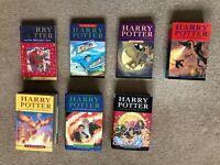 Harry Potter Full Set of 7 Books 3 Hardbacks 4 Paperbacks Inc 3 First Editions