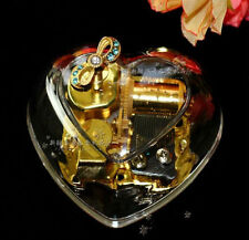 Gorgeous Heart Shape Wind Up Music Box : Imagine