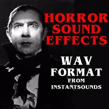 Horror SCARY Sound Effect Library Wav Format Royalty Free Sample Audio Video NOW