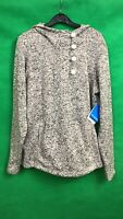 Columbia Ladies Outdoor Sport Hoodie Grey Button Neckline Size XL New with Tags