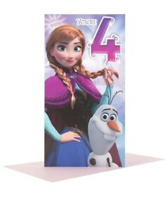 Hallmark Disney Frozen 4th Birthday Card