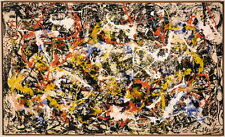 "Jackson Pollock Convergence Canvas Print Paintings Reproduction 31.5"" X 18.8"""