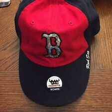 Boston Red Sox Sequin Hat. Womens. Blue, Red with Sequin B. One Size Brand New