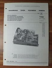Carte mère châssis tx92 thomson saba service MANUAL notice de service v.2