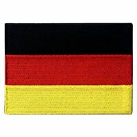 Iron on Sew-On Patch Country Germany Flag Embroidered Patches Nation Appliques