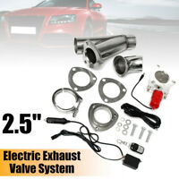 2.5'' 63mm Electric Exhaust Cutout E-Cut Valve System Kit Remote Switch Control