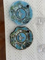 Lot 2 Vintage Walt Disney World 1970's Glass Candy Dish Ashtray Plate Bowls