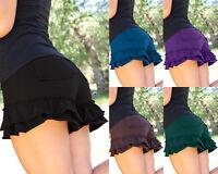 Fashion Women Floral Ruffle Shorts Elastic Waist Mini HOT Pants Short Trousers z