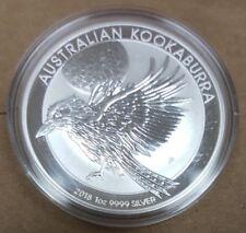 2018 Australian Kookaburra 1 oz .9999 Silver Round Bullion Perth Mint Coin