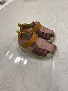 Ecco Girls Purple Shoes Sandals Size 21 US 5 First Walkers