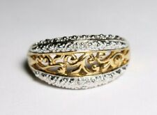 Sterling Silver 925 Goldtone Ring Size 7.5