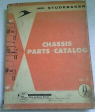 1959 STUDEBAKER CHASSIS PARTS CATALOG LARK VI, LARK VIII, SILVER HAWK