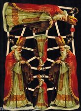 GREEK NICHOLAS SAINT BISHOP CHRISTMAS GERMAN SCRAP ORNAMENT NICK SHRINE PAPER