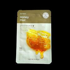 THEFACESHOP - 2 Pcs Real Nature Honey Miel Moisturizing Hydratant Facial Mask