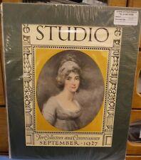 Original Vintage Advertisement mounted ready to frame Studio September 1927