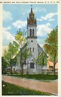 SAINTS JOACHIM & ANN'S CATHOLIC CHURCH*QUEENS LONG ISLAND NEW YORK*POSTCARD