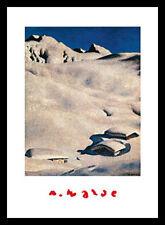 Alfons bosco almen nella neve poster stampa d'arte nel quadro in alluminio nero 70x50cm