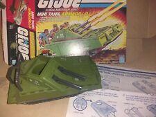 Gi Joe 1985 Armadillo Mini Tank Arah w box & blueprints  Army Vintage Yo