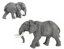 2 Figuren Papo Wildtiere: 50192 Afrikanischer Elefant + 50169 junger Elefant NEU