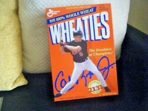 CAL RIPKEN JR WHEATIES 12 OZ BOX 2131 CONSECUTIVE GAMES STILL SEALED FULL BOX