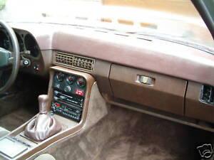 Armaturenbrett-Abdeckung braun  Lederstruktur  für  Porsche 924/924 S/944 I - 84