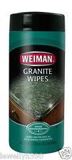 WEIMAN GRANITE WIPES 30ct  Use on: marble, quartz, corian, ceramic  NEW!