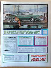 1962 ad for Dodge - green Dodge Dart Sized Right in the middle of Big & Little