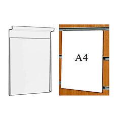 Los titulares de cartel Panel A4 Acrílico Slatwall TRANSPARENTE PERSPEX tablilla signo de placa muestra